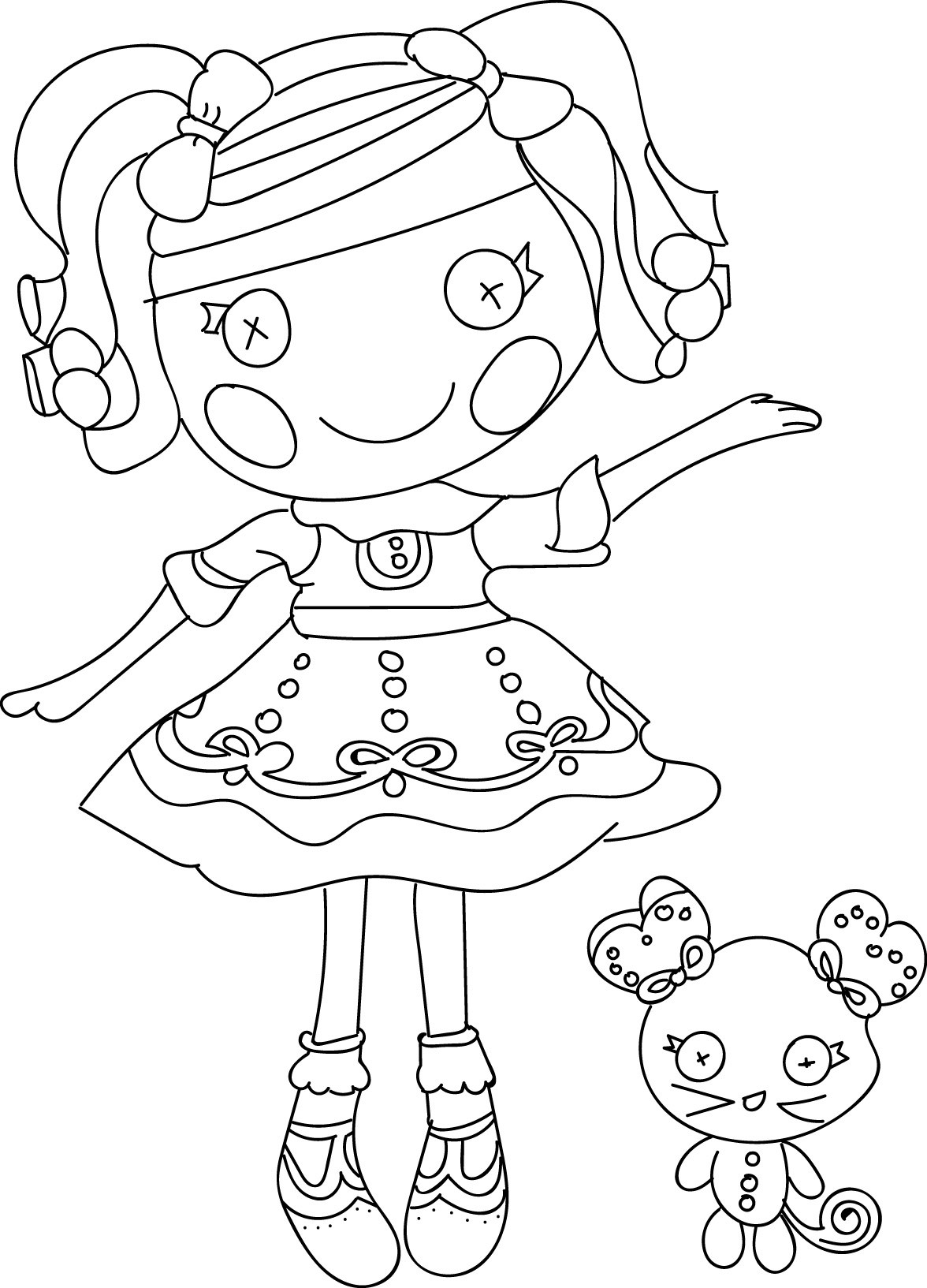 Lalaloopsy Printable Coloring Sheets  Lalaloopsy Coloring Pages Bestofcoloring