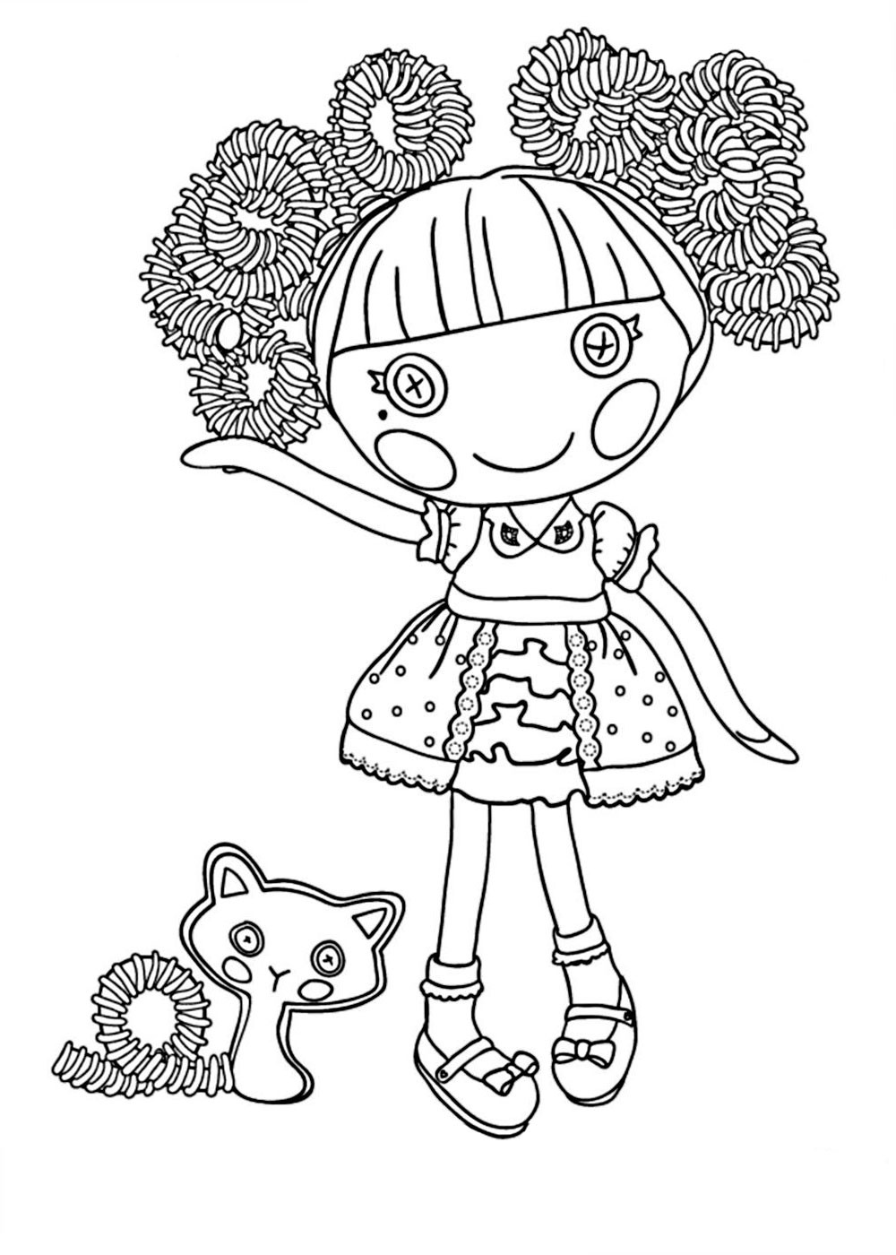 Lalaloopsy Printable Coloring Sheets  Lalaloopsy coloring pages for girls to print for free