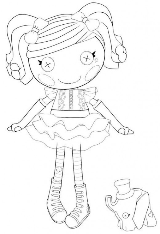 Lalaloopsy Printable Coloring Sheets  The Best Lalaloopsy Dolls Coloring Pages
