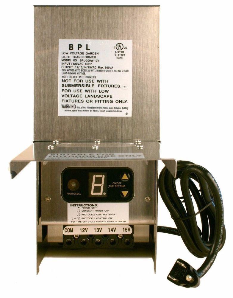 Best ideas about Landscape Lighting Transformer . Save or Pin 300 WATT 12V LOW VOLTAGE LANDSCAPE LIGHTING TRANSFORMER Now.
