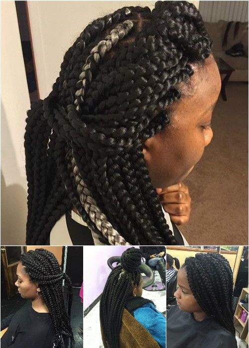 Large Box Braids Hairstyles  50 Exquisite Box Braids Hairstyles That Really Impress
