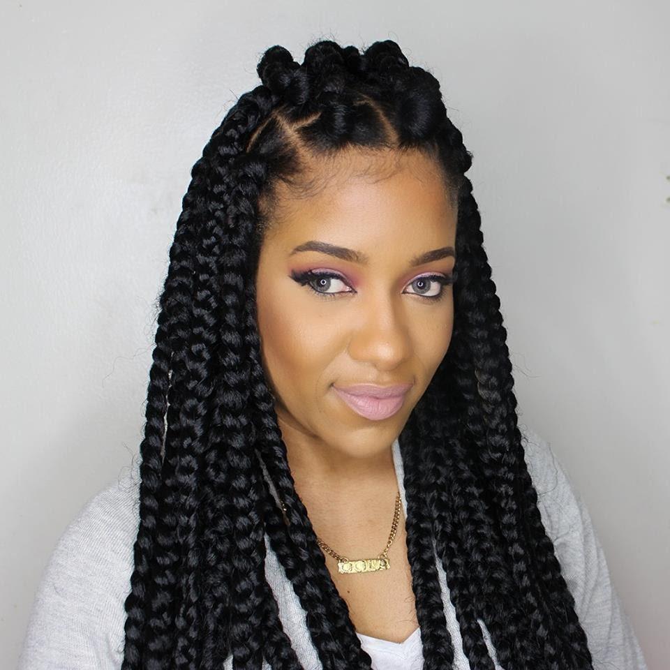 Large Box Braids Hairstyles  Jumbo box braids – Amazing Long Term Protective Style