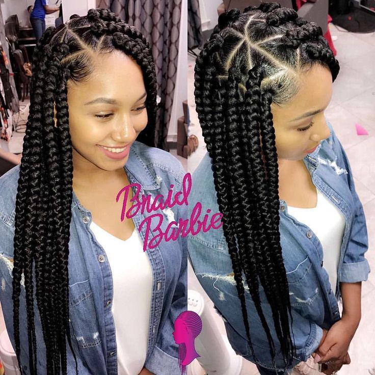 Large Box Braids Hairstyles  Pin by TALIYA🖤B on Box braids & ect