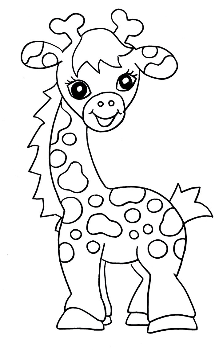 Large Coloring Books For Toddlers  Free Printable Giraffe Coloring Pages For Kids