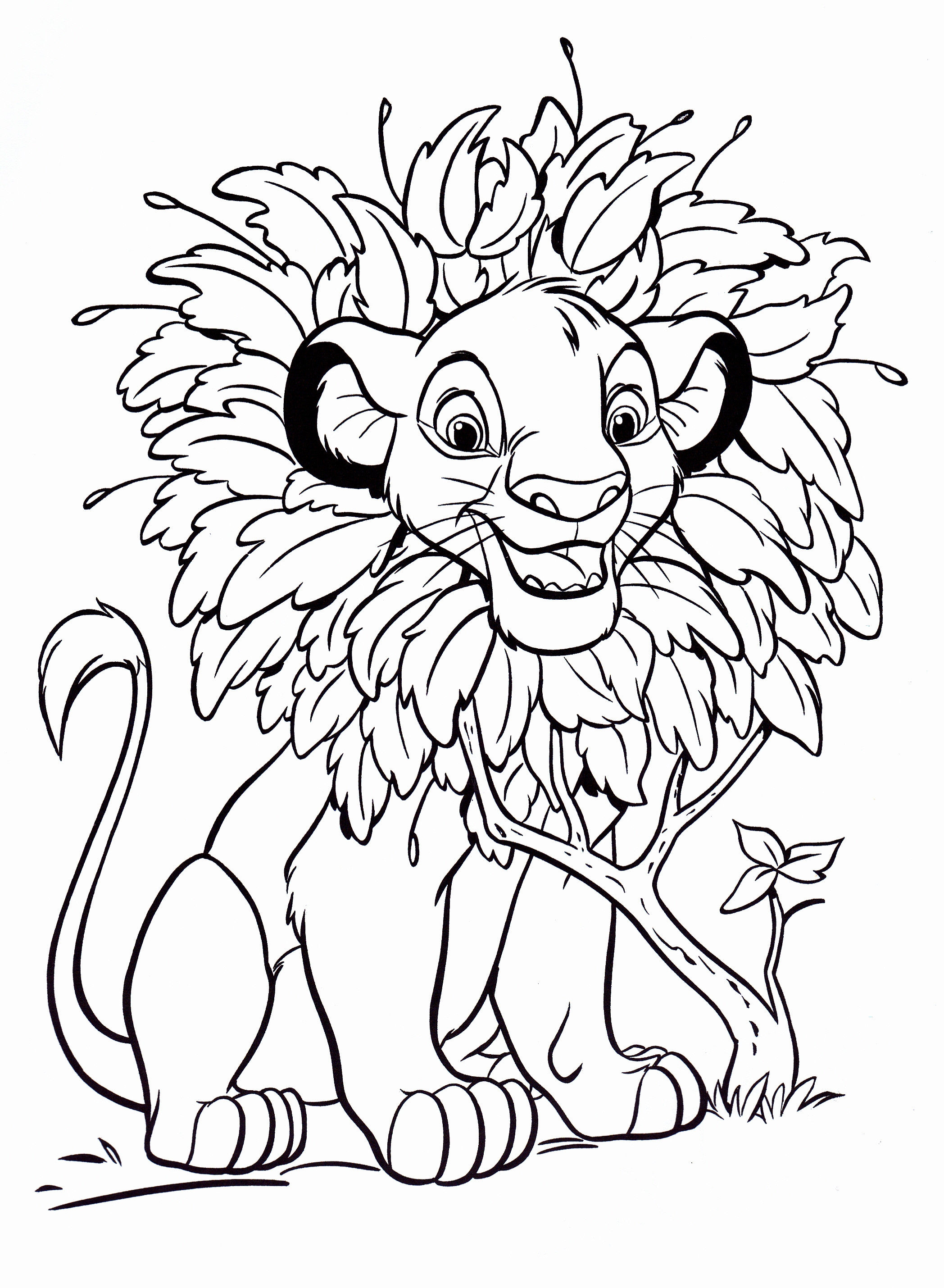 Large Coloring Books For Toddlers  Free Printable Simba Coloring Pages For Kids