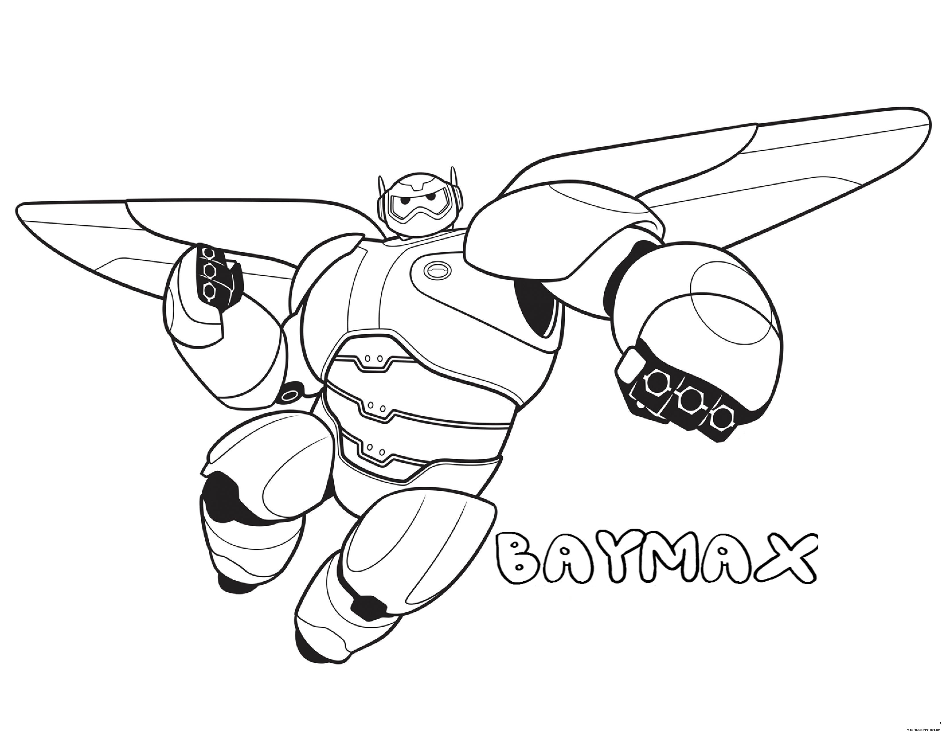 Large Coloring Books For Toddlers  Printable big hero 6 baymax coloring pages for kidsFree