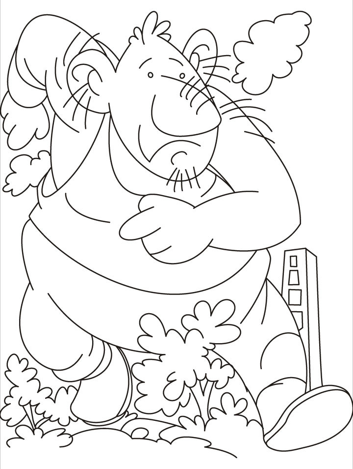 Large Coloring Books For Toddlers  Giant firefighter coloring pages