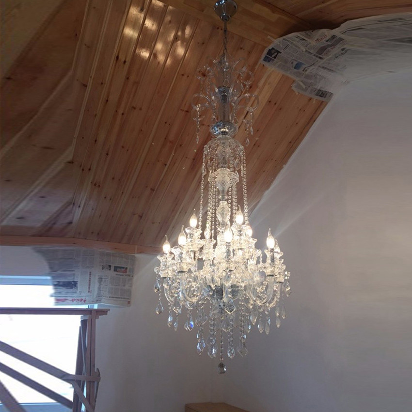Best ideas about Large Entryway Chandelier . Save or Pin Entryway Chandelier Crystal Color — Home Design Now.