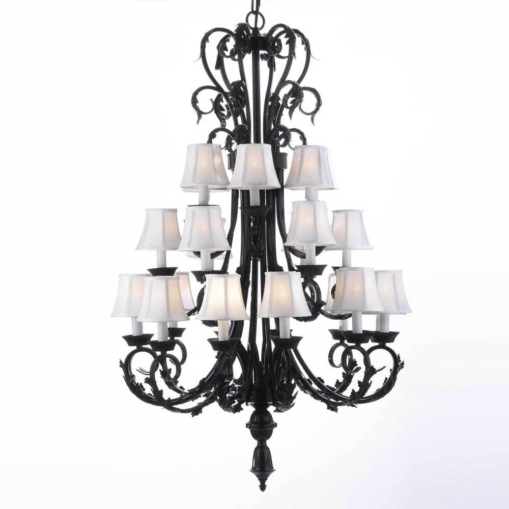 Best ideas about Large Entryway Chandelier . Save or Pin Foyer Entryway Wrought Iron Chandelier Lighting Now.