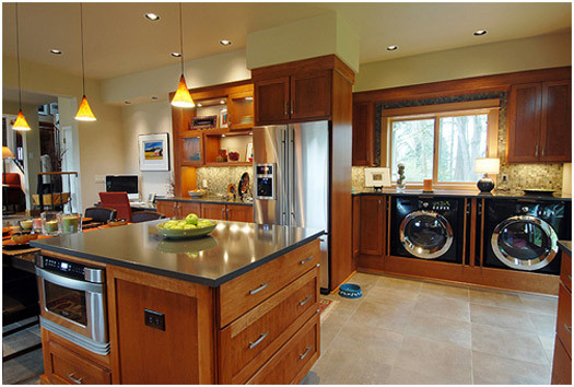 Best ideas about Laundry In Kitchen . Save or Pin An Organized Laundry Room A Grateful Life Now.