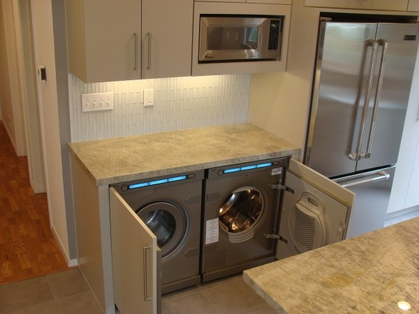 Best ideas about Laundry In Kitchen . Save or Pin Kitchen Laundry Now.