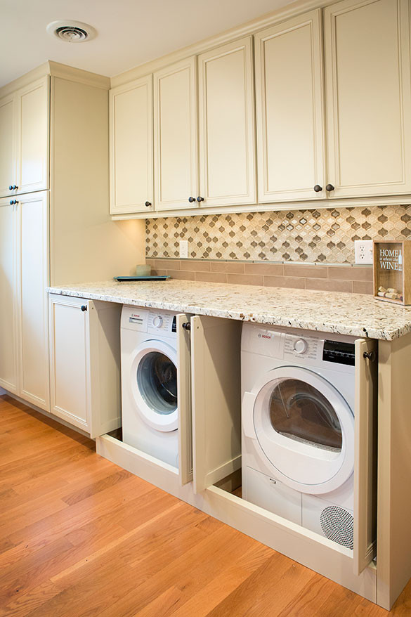 Best ideas about Laundry In Kitchen . Save or Pin St Louis Kitchen Remodel With Laundry Roeser Home Remodeling Now.