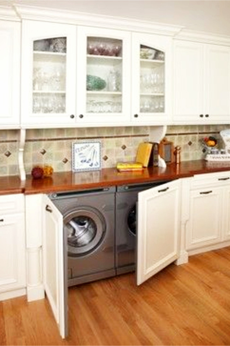 Best ideas about Laundry In Kitchen . Save or Pin Laundry Nook Ideas We LOVE Involvery Now.