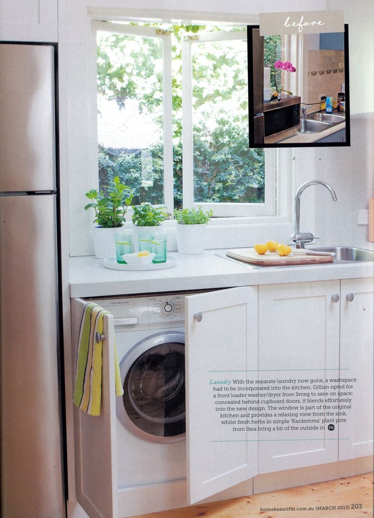 Best ideas about Laundry In Kitchen . Save or Pin Washer Dryer In Kitchen Ideas Laundry Room Modern With Now.