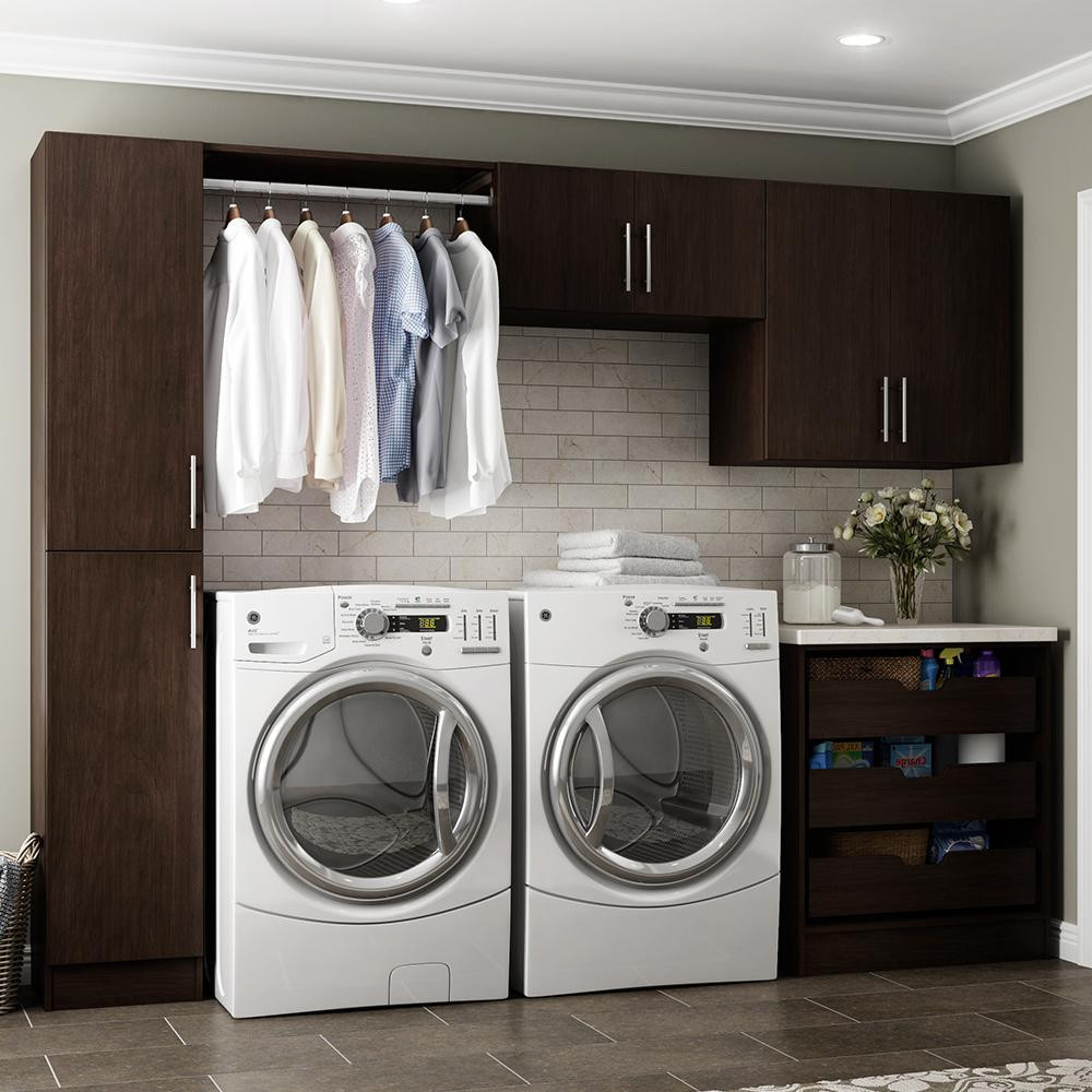 Best ideas about Laundry Room Cabinets Home Depot . Save or Pin Modifi Madison 60 in W White Open Shelves Laundry Cabinet Now.