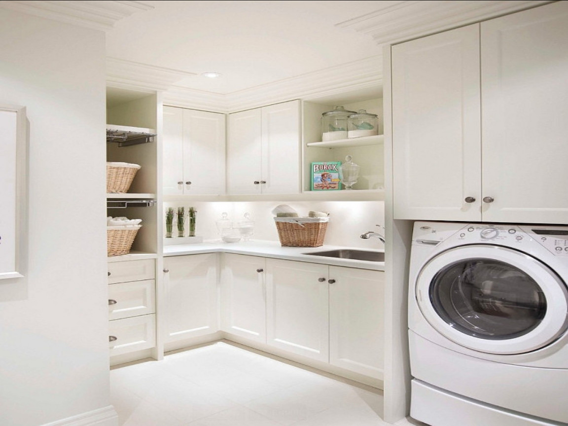 Best ideas about Laundry Room Cabinets Home Depot . Save or Pin Washer dryer cabinet home depot laundry room cabinets Now.