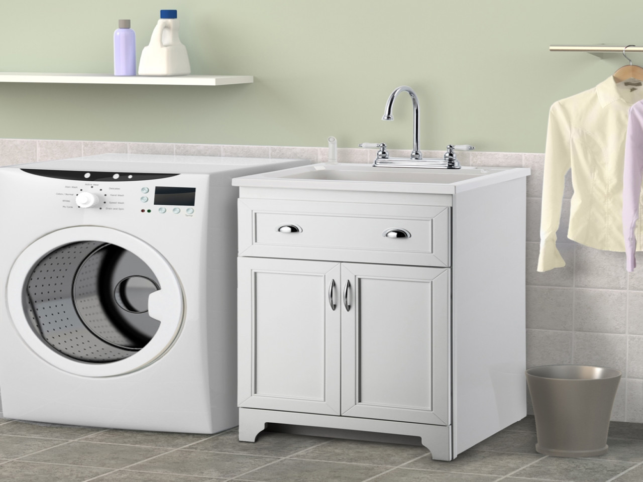 Best ideas about Laundry Room Cabinets Home Depot . Save or Pin Laundry room cabinet with sink home depot utility sink Now.