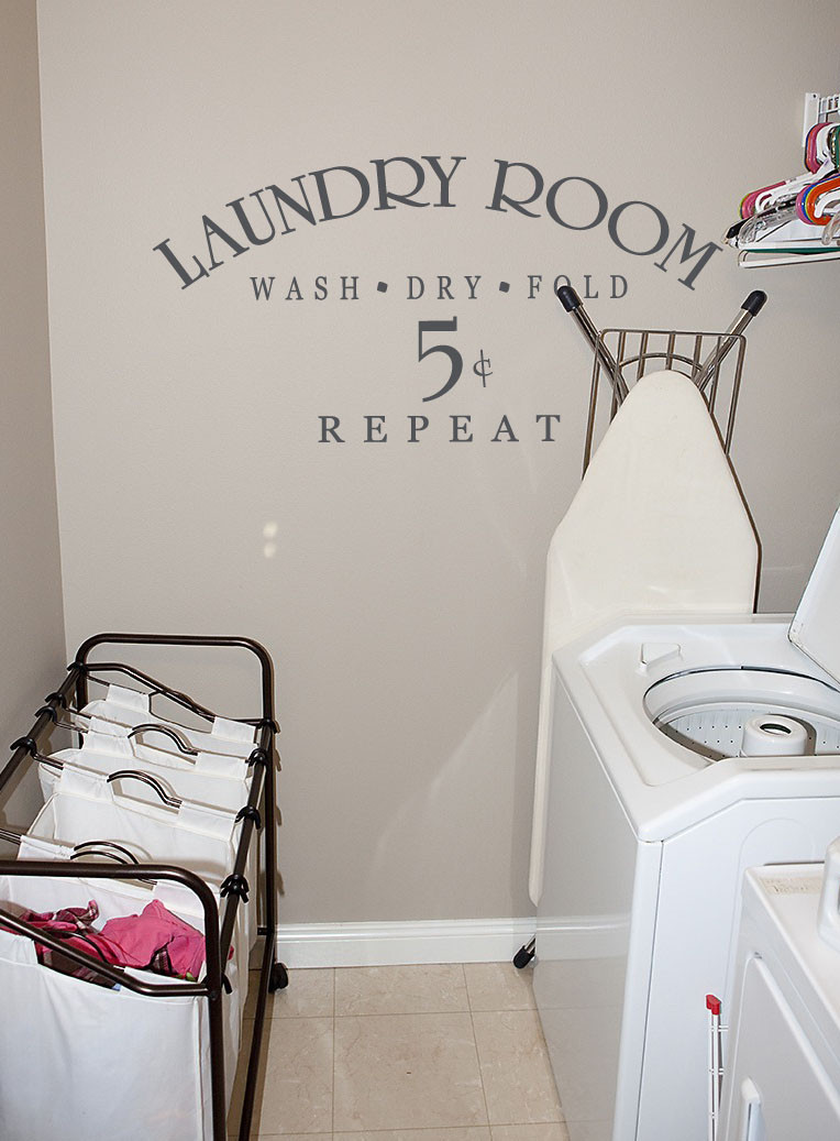 Best ideas about Laundry Room Decals . Save or Pin Laundry Room 5 Cents Now.