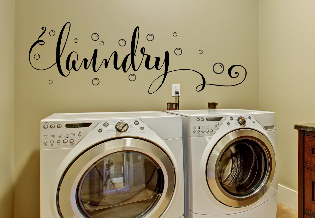 Best ideas about Laundry Room Decals . Save or Pin Laundry Room Decor Laundry Wall Decal with Bubbles Now.