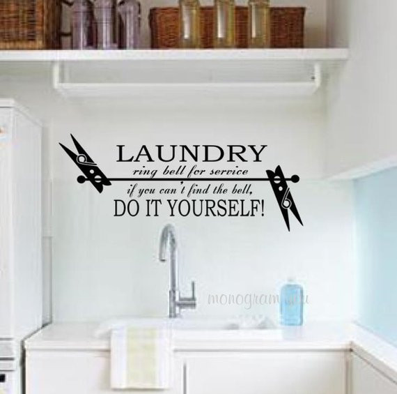 Best ideas about Laundry Room Decals . Save or Pin Laundry Room Vinyl Wall Decal Now.