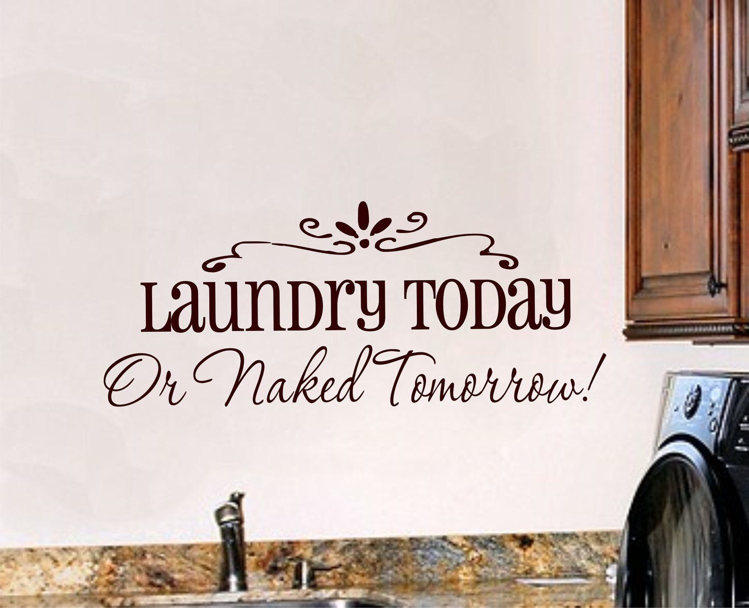 Best ideas about Laundry Room Decals . Save or Pin Laundry Room Wall Decal Laundry Room Decor Vinyl Wall Art Now.