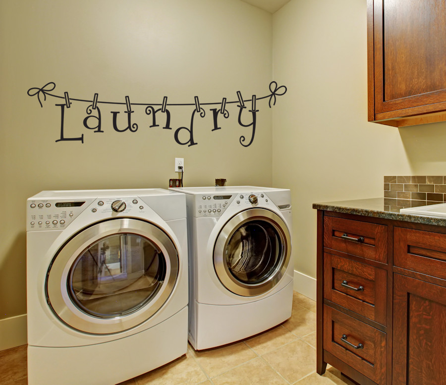 Best ideas about Laundry Room Decals . Save or Pin Washer and Dryer Decals Flower Wall Decals Amandas Now.