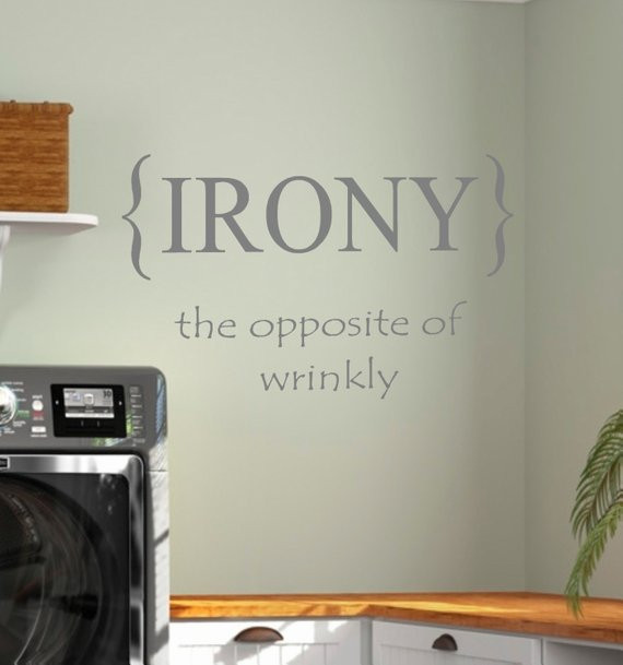 Best ideas about Laundry Room Decals . Save or Pin Laundry Room IRONY Vinyl Wall Decal Home Decor Now.