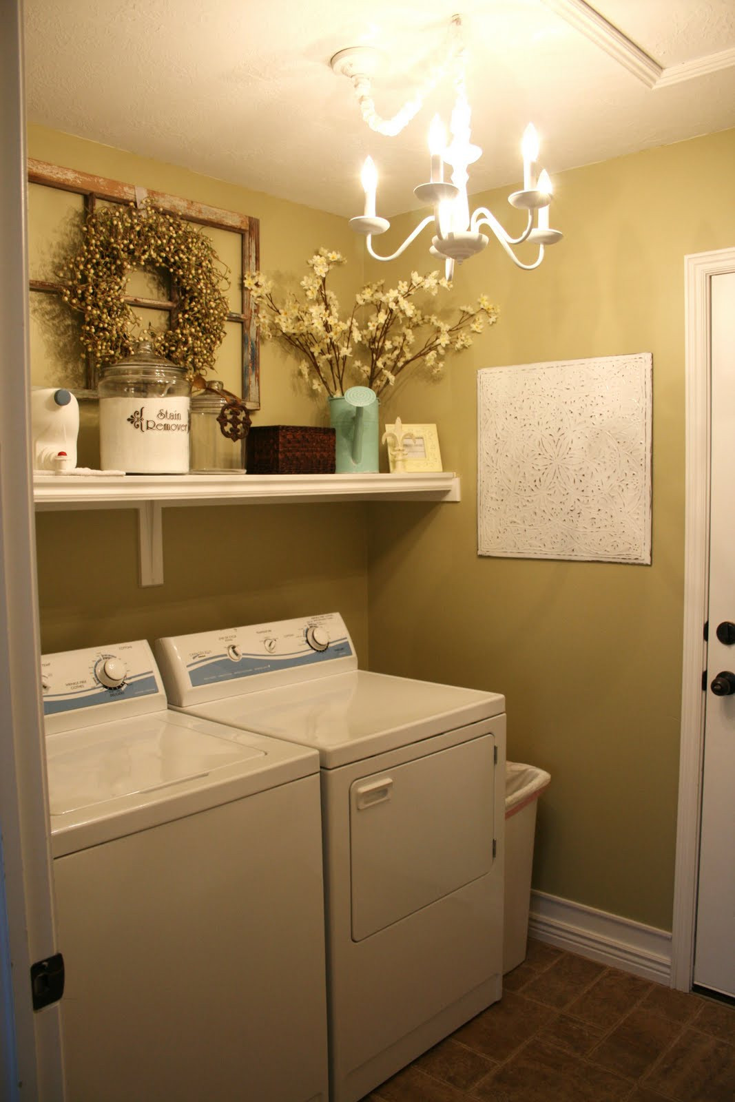Best ideas about Laundry Room Decor Ideas . Save or Pin Sassy Sites Home Tour the laundry room Now.