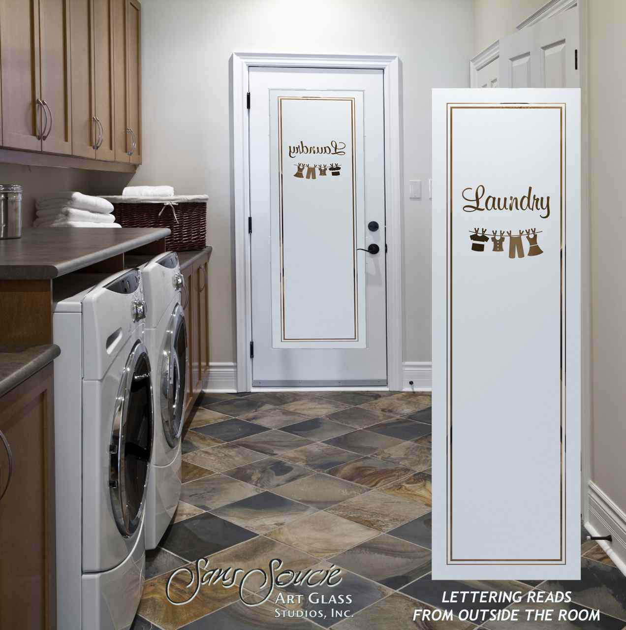 Best ideas about Laundry Room Doors . Save or Pin frosted glass laundry room doors Sans Soucie Art Glass Now.