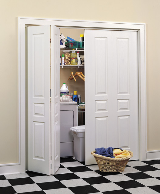 Best ideas about Laundry Room Doors . Save or Pin Avalon Bi Fold Closet Doors Traditional Laundry Room Now.
