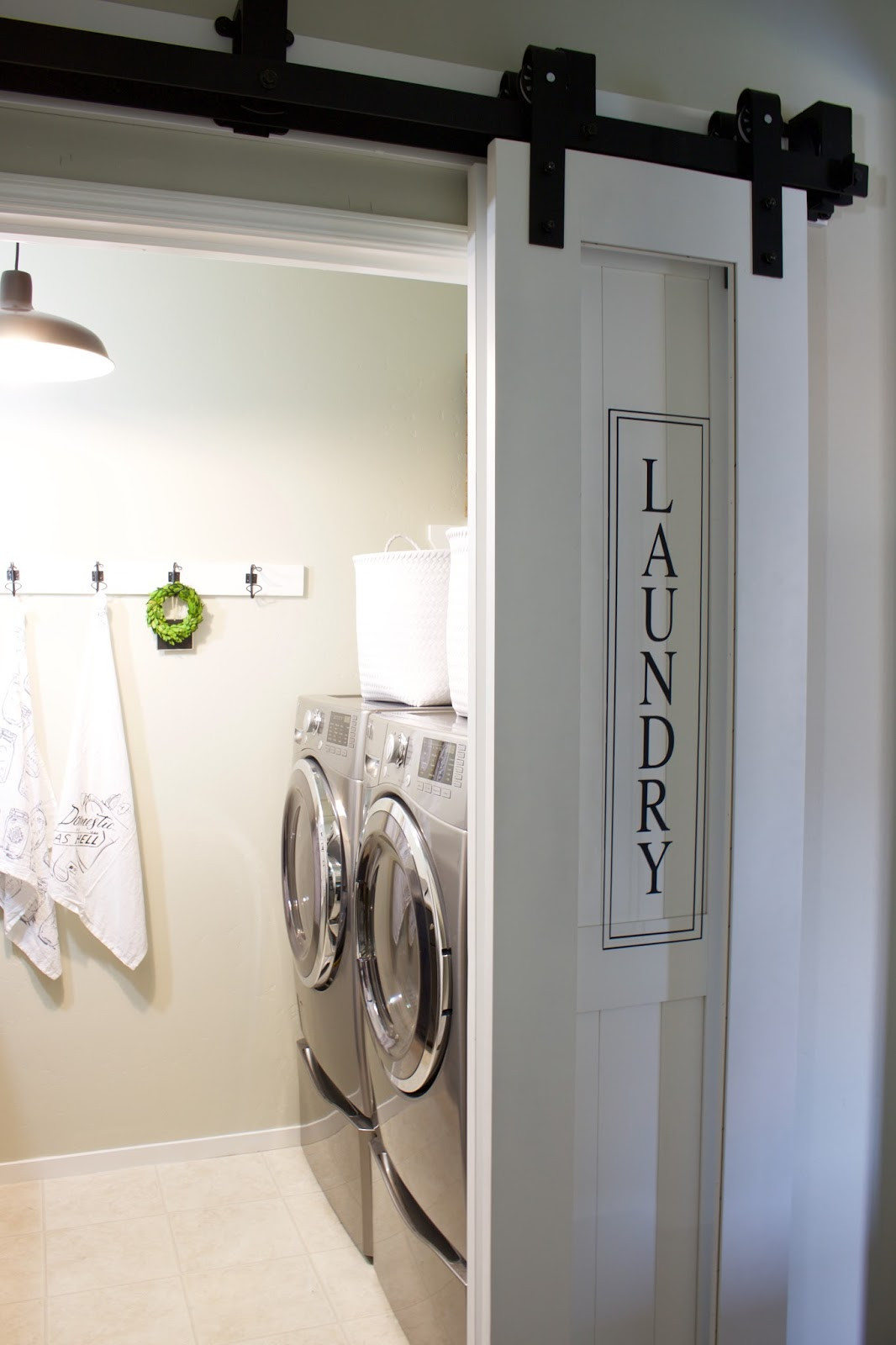 Best ideas about Laundry Room Doors . Save or Pin Laundry Room & Barn Door A House and A Dog Now.