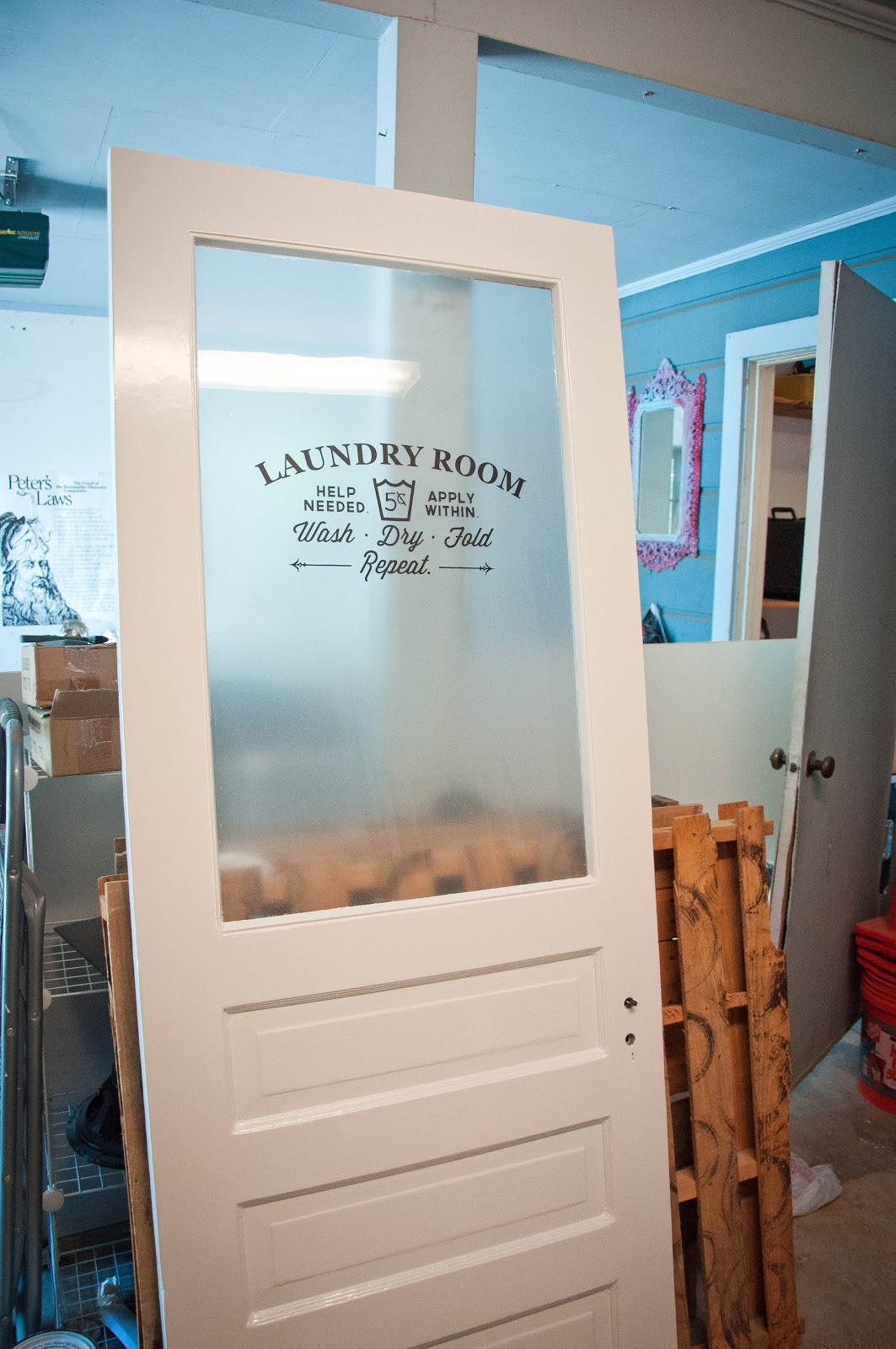 Best ideas about Laundry Room Doors . Save or Pin Laundry Room Door Part 2 Now.