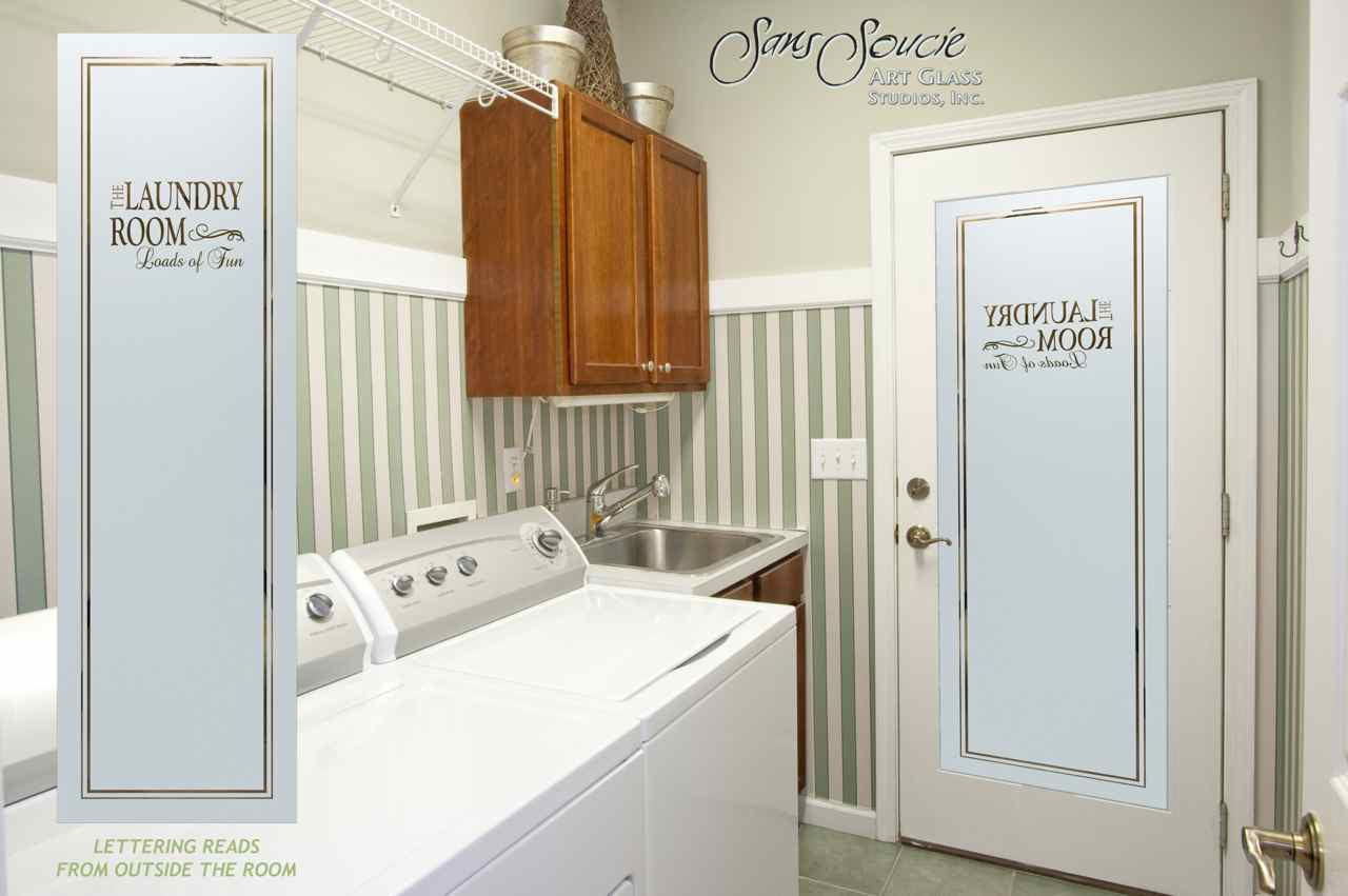 Best ideas about Laundry Room Doors . Save or Pin Laundry Room Doors Sans Soucie Art Glass Now.