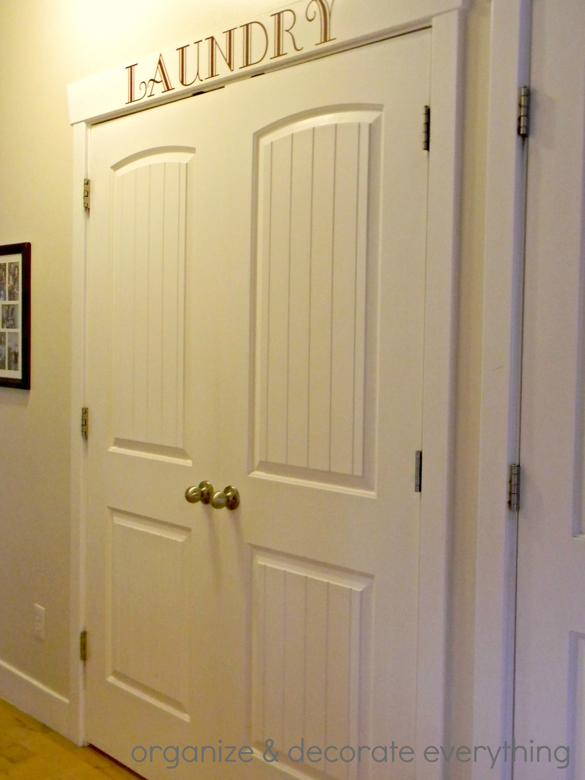 Best ideas about Laundry Room Doors . Save or Pin Organized space of the week Laundry closet Now.