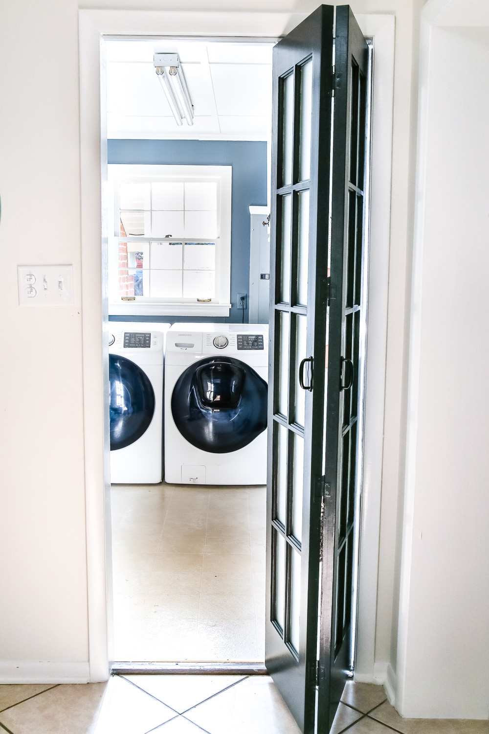 Best ideas about Laundry Room Doors . Save or Pin Laundry Room Updates French Bifold Door Bless er House Now.