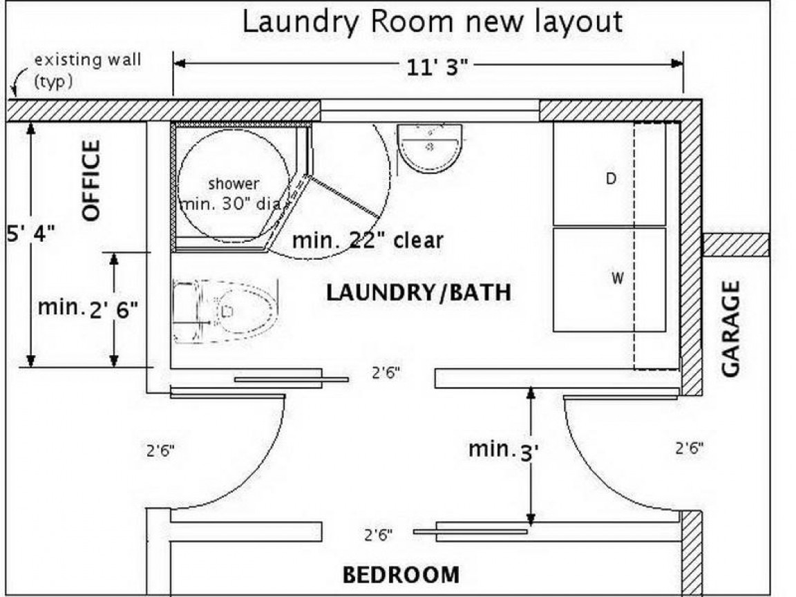 Best ideas about Laundry Room Floor Plans . Save or Pin Small half bath ideas small bathroom with laundry room Now.