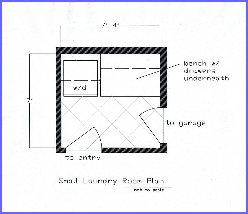Best ideas about Laundry Room Floor Plans . Save or Pin Small Laundry Room Now.