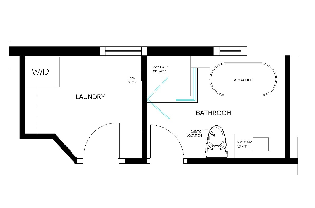 Best ideas about Laundry Room Floor Plans . Save or Pin Bathroom Floor Plan Drawings Now.
