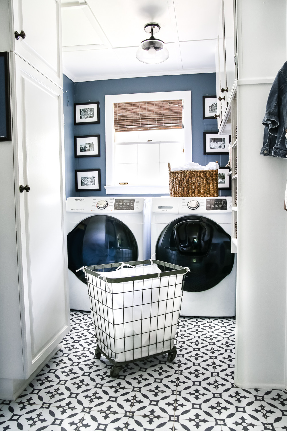 Best ideas about Laundry Room Makeover . Save or Pin High Contrast Laundry Room Makeover Reveal Bless er House Now.
