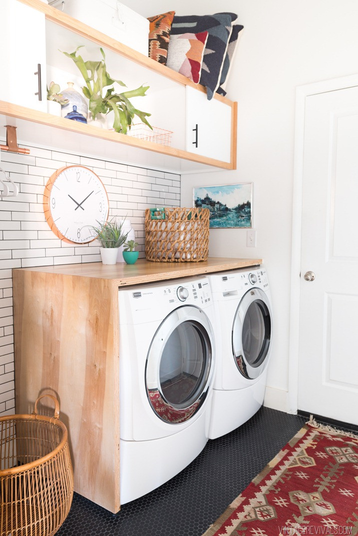 Best ideas about Laundry Room Makeover . Save or Pin Laundry Room Makeover Reveal • Vintage Revivals Now.
