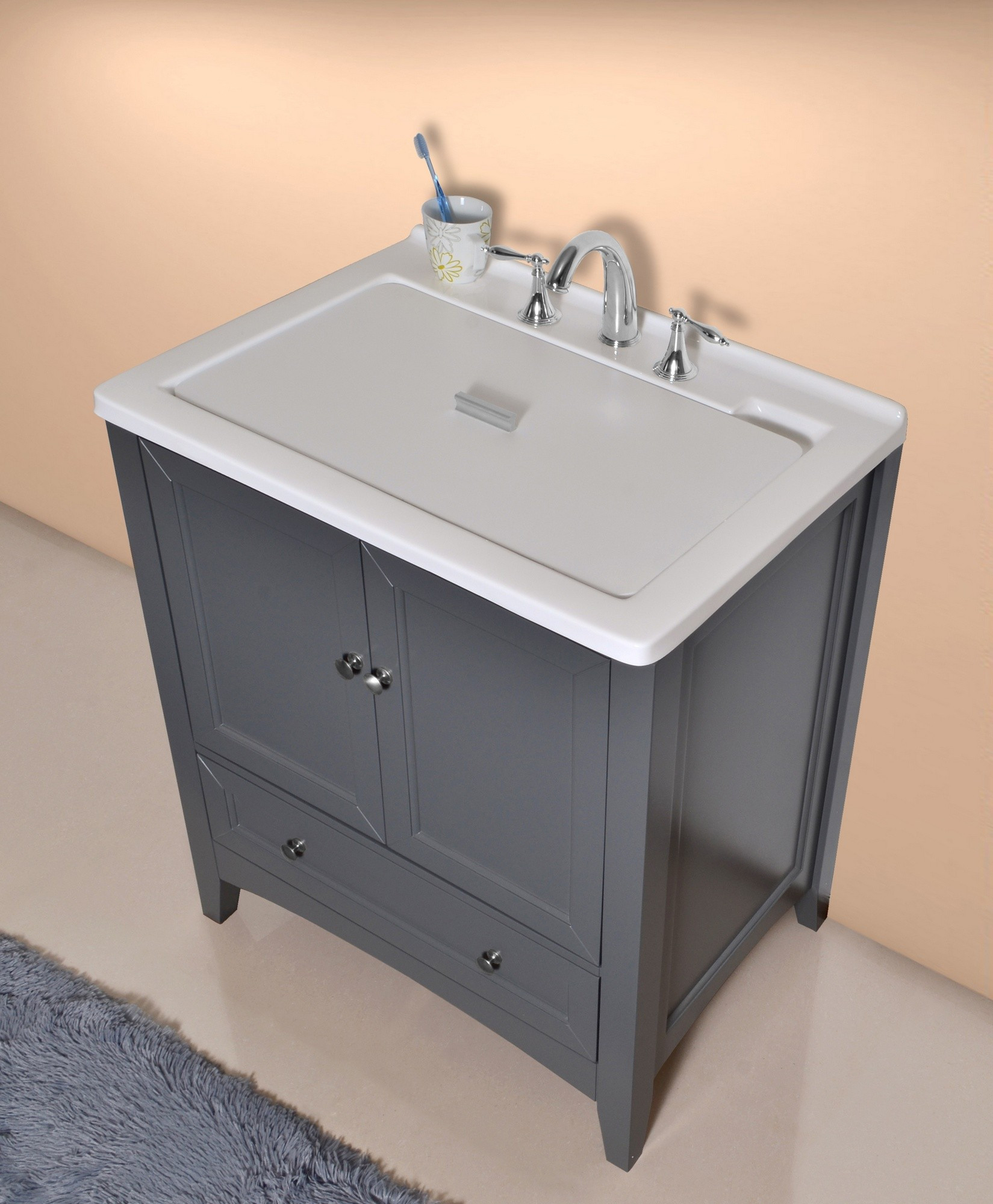 Best ideas about Laundry Room Utility Sink . Save or Pin Stufurhome GM Y01G Manhattan Grey Laundry Utility Sink Now.