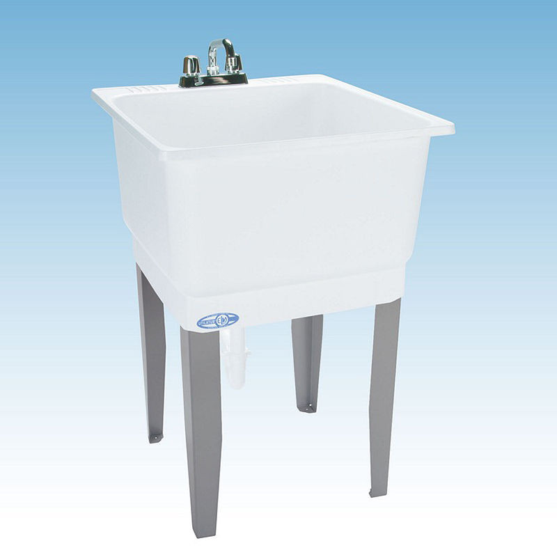 Best ideas about Laundry Room Utility Sink . Save or Pin Utility Sink Freestanding White Polypropylene Laundry Room Now.