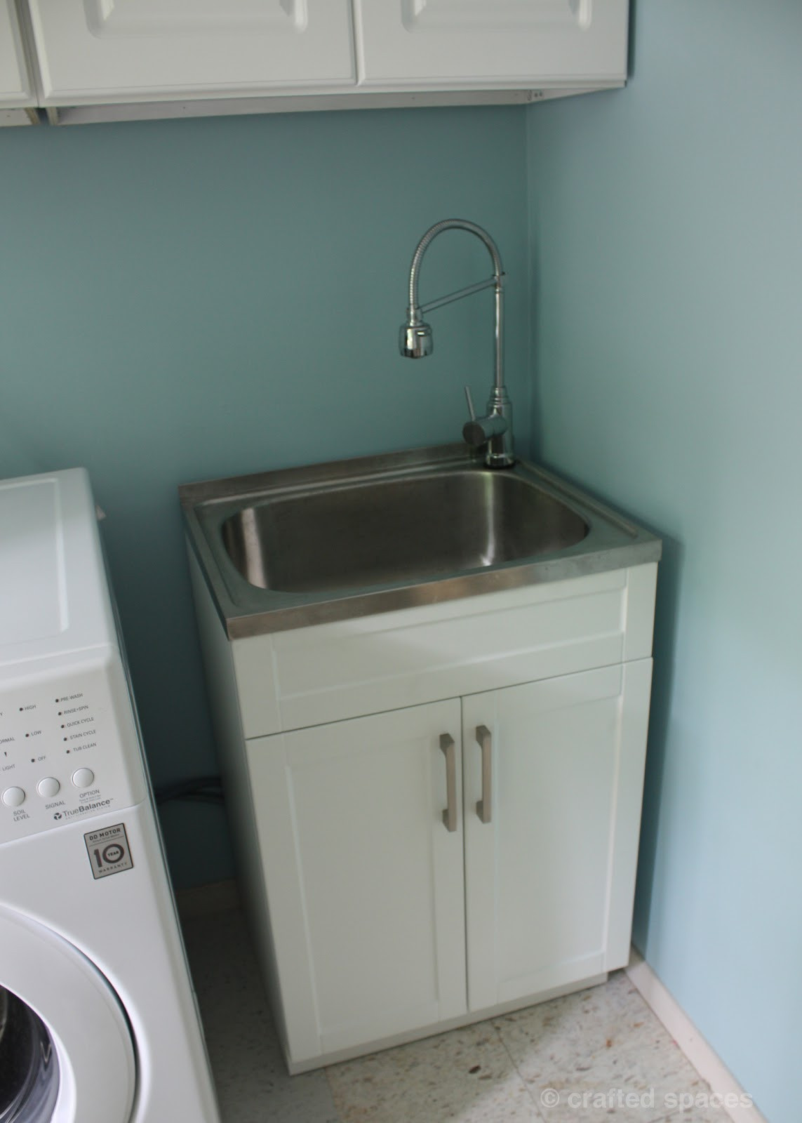 Best ideas about Laundry Room Utility Sink . Save or Pin Crafted Spaces At Home Laundry Room Makeover Now.