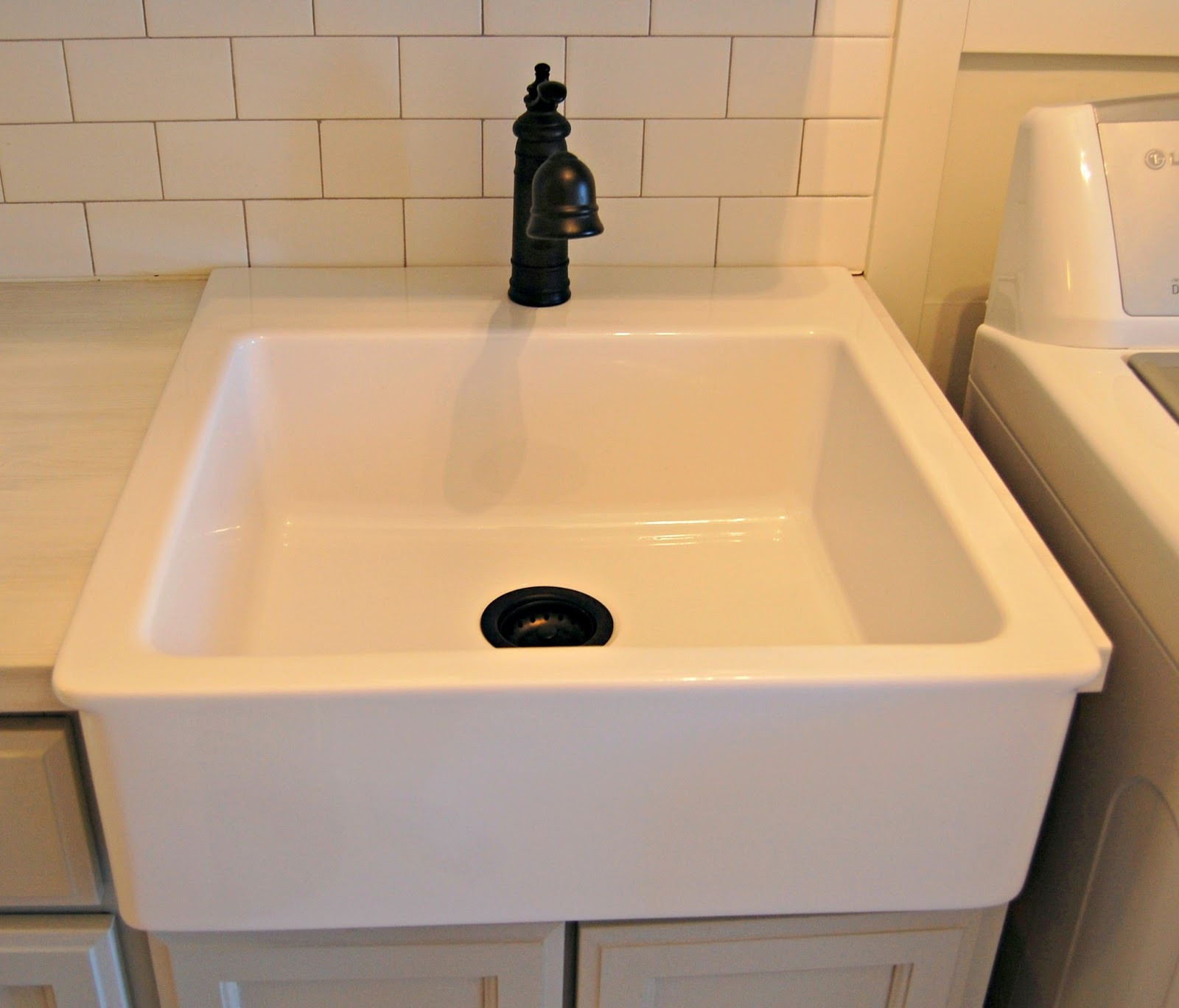Best ideas about Laundry Room Utility Sink . Save or Pin Roly Poly Farm Laundry Room Reveal Now.