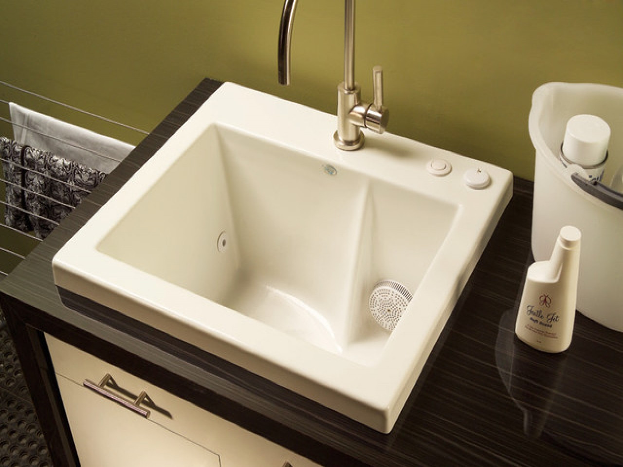 Best ideas about Laundry Room Utility Sink . Save or Pin Laundry room utility sink cabinet laundry room sink with Now.