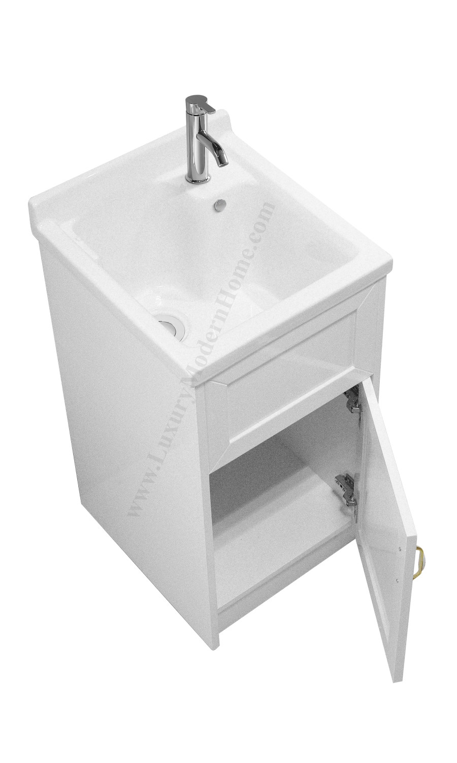 "Best ideas about Laundry Room Utility Sink . Save or Pin ALEXANDER 18"" SMALL White Laundry Utility Sink Now."