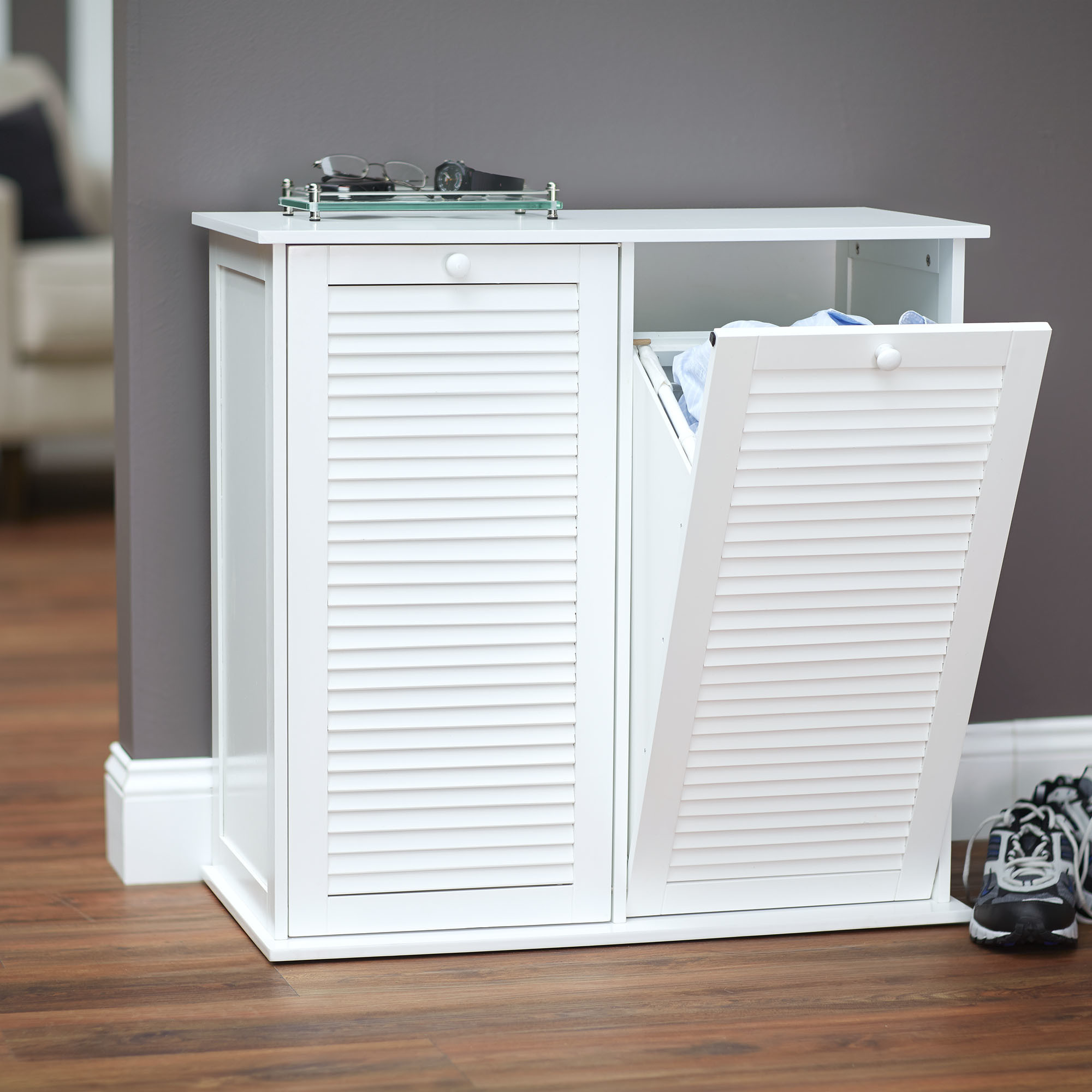 Best ideas about Laundry Sorter Cabinet . Save or Pin Household Essentials Tilt Out Laundry Sorter Cabinet with Now.