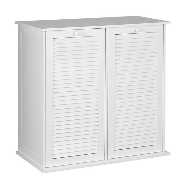 Best ideas about Laundry Sorter Cabinet . Save or Pin Shop Household Essentials White Shutter Front Tilt out Now.