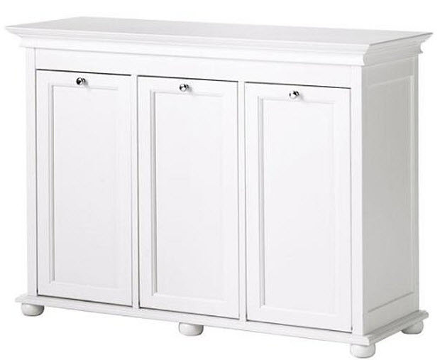 Best ideas about Laundry Sorter Cabinet . Save or Pin Wooden white laundry sorter cabinet – FindaBuy Now.