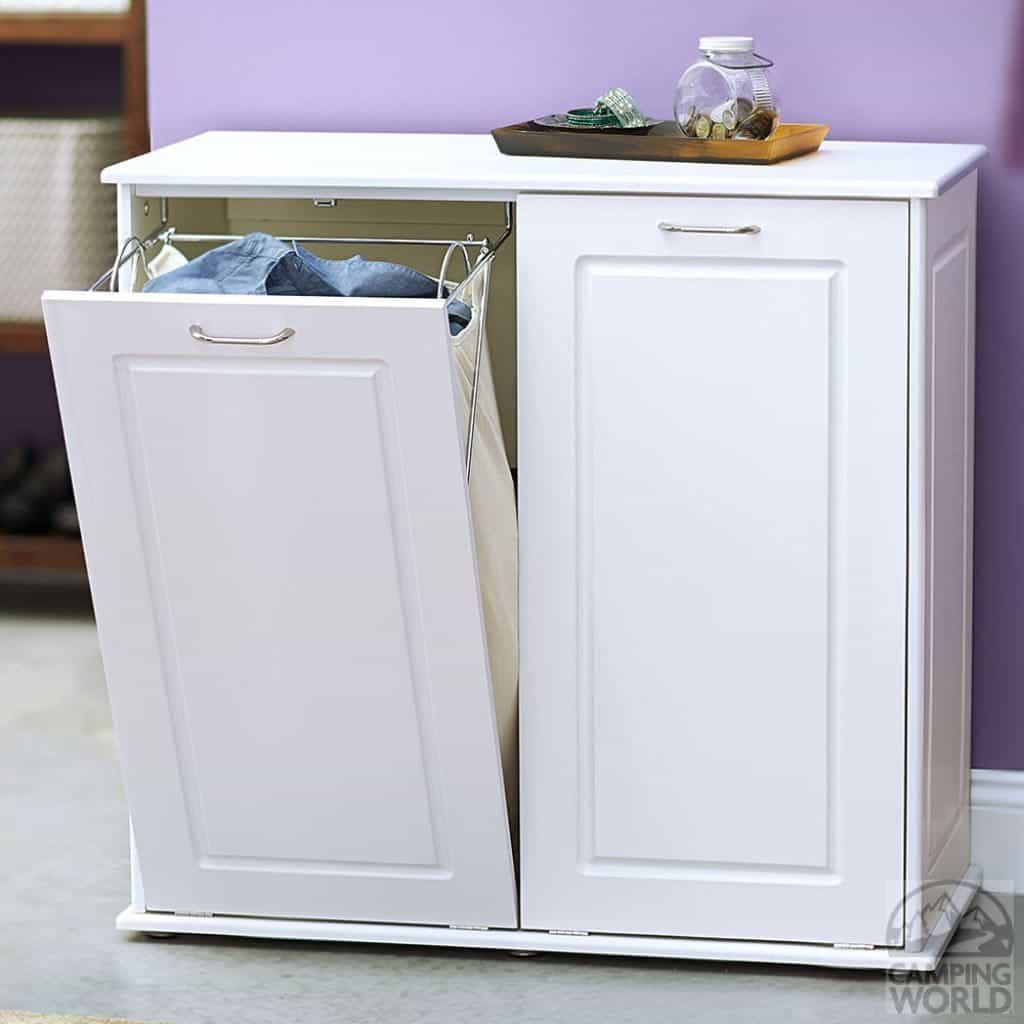 Best ideas about Laundry Sorter Cabinet . Save or Pin Laundry Hamper Cabinet In White Color Laundry Hamper For Now.